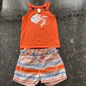 🐡Gymboree🐡Girls sparkly fish shirt & shorts